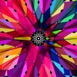 Abstrakt färgrik kalejdoskopvektorbakgrund på svart royaltyfri illustrationer