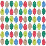 Abstrakt färgrik klickvektorprydnad, röd grön för droppformer för gul brunt modell Royaltyfri Fotografi