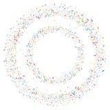 Abstrakt färgrik konfettibakgrund Isolerat på vit Vektorferieillustration Royaltyfria Bilder