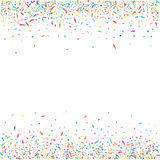 Abstrakt färgrik konfettibakgrund Isolerat på vit Vektorferieillustration Royaltyfri Foto