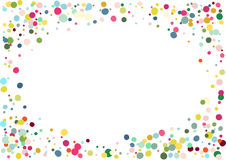 Abstrakt färgrik konfettibakgrund Isolerat på viten Vektorferieillustration Arkivbild