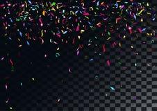 Abstrakt färgrik konfettibakgrund på den genomskinliga bakgrunden Arkivbilder
