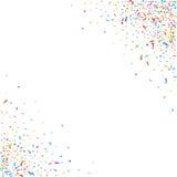 Abstrakt färgrik konfettibakgrund På white Vektorferieillustration Royaltyfria Bilder