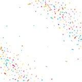 Abstrakt färgrik konfettibakgrund På white Vektorferieillustration Arkivbilder