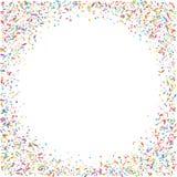 Abstrakt färgrik konfettibakgrund På white Vektorferieillustration Royaltyfria Foton