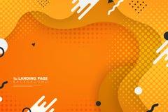 Abstrakt färgrik landa bakgrund för garnering för sidarengöringsdukform Illustrationvektor eps10 royaltyfri illustrationer