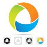 Abstrakt färgrik logo, designbeståndsdel. Arkivfoto
