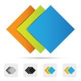 Abstrakt färgrik logo, designbeståndsdel. Royaltyfri Fotografi