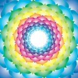 abstrakt färgrik lotusblomma Fotografering för Bildbyråer