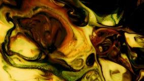 Abstrakt färgrik målarfärgfärgpulverflytande exploderar psykedelisk tryckvågrörelse för diffusion arkivfilmer