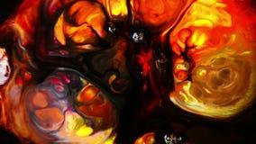 Abstrakt färgrik målarfärgfärgpulverflytande exploderar rörelse för diffusionsPshychedelic tryckvåg