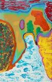 abstrakt färgrik målning Royaltyfri Bild