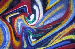 abstrakt färgrik målning Fotografering för Bildbyråer
