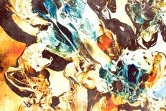 abstrakt färgrik målning Arkivbilder