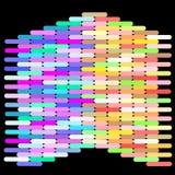 Abstrakt färgrik modell i varm och kall signalfärg Royaltyfri Bild