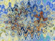 Abstrakt färgrik modell med unik textur Vatten och flytande royaltyfri illustrationer