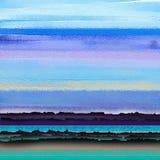 Abstrakt färgrik olja, slaglängd för akrylmålarfärgborste på kanfastextur Halv abstrakt bild av bakgrund för landskapmålning arkivbild