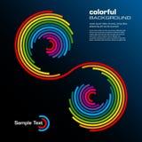 abstrakt färgrik orienteringsvektor royaltyfri illustrationer