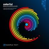 abstrakt färgrik orienteringsvektor Arkivfoto