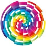 abstrakt färgrik prydnad royaltyfri illustrationer