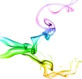 abstrakt färgrik rök Arkivfoton