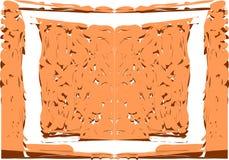 Abstrakt färgrik ram med isolerade fläckar Fotografering för Bildbyråer