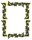 Abstrakt färgrik ram med isolerade garneringar Royaltyfria Foton