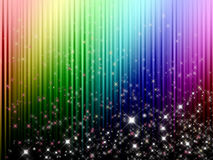 Abstrakt färgrik regnbågebakgrund med stjärnor Royaltyfri Fotografi