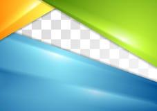 Abstrakt färgrik reklambladdesign Arkivbilder