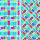 Abstrakt färgrik rektangelmodell Royaltyfria Bilder