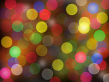 abstrakt färgrik rund bokehbakgrund Fotografering för Bildbyråer