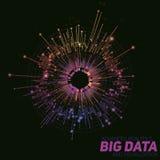 Abstrakt färgrik rund stor datavisualization för vektor Futuristisk infographicsdesign Visuell informationskomplexitet Arkivbilder