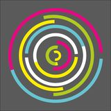 Abstrakt färgrik rundad geometrisk bakgrund stock illustrationer