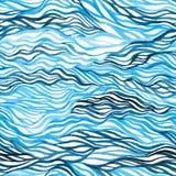Abstrakt färgrik sömlös modell för vattenfärg Arkivbild