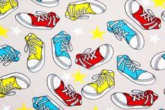 Abstrakt färgrik sneackersmodell Royaltyfria Foton