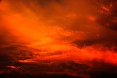 Abstrakt färgrik solnedgång Royaltyfri Foto