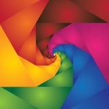 Abstrakt färgrik spiral av moment som leder till oändligheten Royaltyfri Fotografi