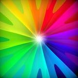 Abstrakt färgrik swirlblommabakgrund. Royaltyfri Illustrationer