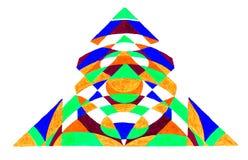 Abstrakt färgrik triangel Royaltyfri Fotografi