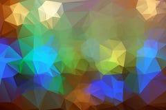 Abstrakt färgrik triangelbakgrund för design Royaltyfria Foton