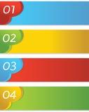 Abstrakt färgrik uppsättning av banret. vektor illustrationer