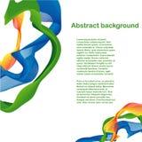 Abstrakt färgrik vågdesign Arkivfoto