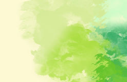Abstrakt färgrik vattenfärg, grön signal Arkivfoton