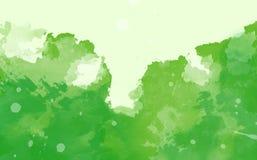 Abstrakt färgrik vattenfärg, grön signal Royaltyfri Foto