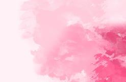 Abstrakt färgrik vattenfärg, rosa färgrossignal Arkivbilder