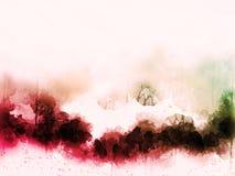 Abstrakt färgrik vattenfärgmålningbakgrund royaltyfria bilder