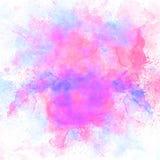 Abstrakt färgrik vattenfärgmålningbakgrund, färgrik borstebakgrund Royaltyfria Bilder