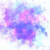 Abstrakt färgrik vattenfärgmålningbakgrund, färgrik borstebakgrund Arkivfoto