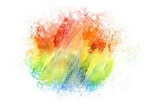Abstrakt färgrik vattenfärgmålningbakgrund, färgrik borstebakgrund Royaltyfri Bild