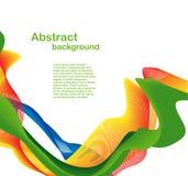 abstrakt färgrik wave Royaltyfri Foto